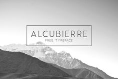 Alcubierre – Sans Serif Free Font which you can use for both personal and commercial purposes. Feel FREE to download the font!