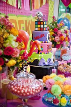 80s Themed Birthday Party...great ideas for decorations, food, and lots more