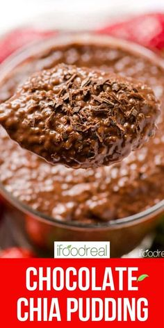 10 minute Chocolate Chia Pudding that tastes like dessert with nutrition of a breakfast. Refrigerate for up to 5 days for easy healthy breakfast, snack or treat. Vegan Desserts, Raw Food Recipes, Snack Recipes, Cooking Recipes, Rice Desserts, Chocolate Desserts, Brunch Recipes, Healthy Dinner Recipes, Delicious Recipes
