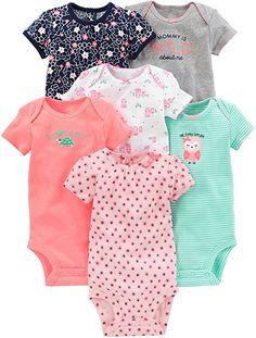 995b41df79b Amazon.com  Simple Joys by Carter s Baby Girls 6-Pack Short-Sleeve