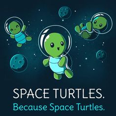 Because space turtles....