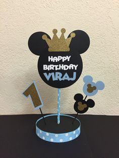 Centro Príncipe Mickey Birthday príncipe por TheGirlNXTdoor en Etsy
