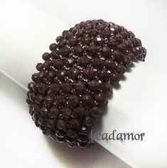 beaded bracelet Cacao free shipping worldwide by Beadamor on Etsy