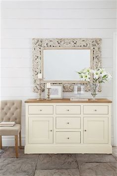 Large Carved Mirror and Shaftesbury Large Side Board