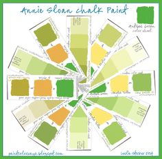 COLORWAYS Annie Sloan Chalk Paint Swatch Book Custom Green Colors - Colors that match green