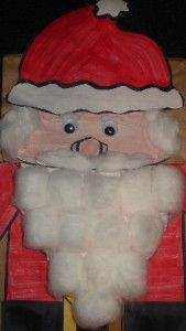 Free Santa Paper Bag Puppet Printable Template - Pinned by @PediaStaff – Please visit http://ht.ly/63sNt for all (hundreds of) our pediatric therapy pins