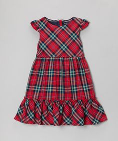 Loving this Nautica Red & Blue Plaid Dress - Infant & Girls on #zulily! #zulilyfinds