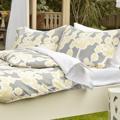 Bedroom inspiration and bedding decor | The Ashbury Yellow Duvet Cover | Crane and Canopy