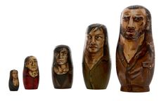 5pc The Walking Dead Nesting Dolls by KillemArt on Etsy