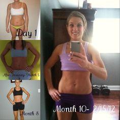 MY Progress!   Nutrition+ Fitness+ Support= Success