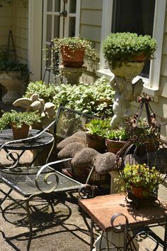 Faded Charm: Relaxing on the Patio