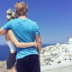 aspyn ovard and parker in Greece