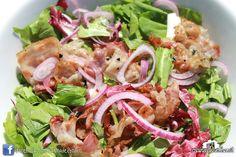 """Insalata """"Come una Volta"""" (radicchio, cipollotto, pancetta saltata in padella con aceto balsamico)  #casinadelbosco#salad #italianfood Seguici: www.facebook.com/casinadelbosco"""
