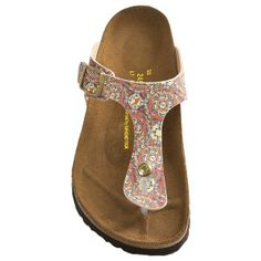 Papillio by Birkenstock Gizeh Sandals - Birko-flor® (For Women) in Dark Grey/Pink