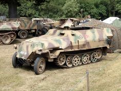 A beautifully restored SdKfz 251/10 with a 3.7cm PaK anti tank gun