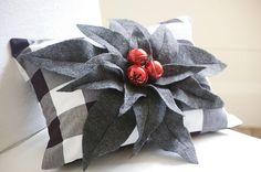 Buffalo Check Pillow  Farmhouse Christmas  Christmas Pillow