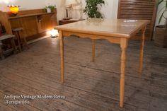 110L 110L ラスティックなダイニングテーブル カフェ北欧 Scandinavian dining table ¥10000yen 〆04月15日