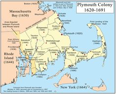 "Plymouth Colony - most famous for introducing Thanksgiving. Also important for introducing self-government into America through the ""Mayflower Compact."" Plymouth Colony later merged with the Massachusetts Bay Colony to form the colony of Massachusetts. American History Lessons, Us History, History Facts, Family History, History Education, Teaching History, History Photos, Ancient History, History Classroom"