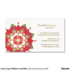 Sante De Logo Lotus Et Rendez Vous Carte Visite Standard Zazzle