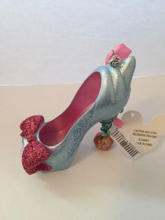 cinderella fairy godmother christmas shoe ornament