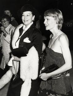 Ava Gardner and Mia Farrow, 1978 both where married  to Frank Sinatra