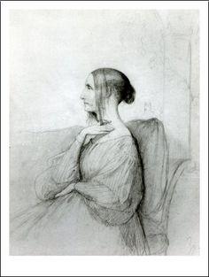 Henri Lehmann - Portrait of Marie D'Agoult