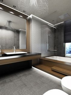 Modern Bathroom Gray And Brown Bathrooms Design, Pictures, Remodel, Decor and Ideas - page 45