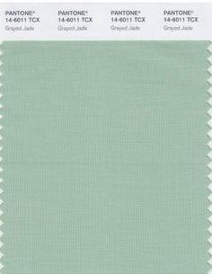 Pantone Color Jade   Pantone color trend: Grayed Jade   Color Trend: Grayed Jade   Pintere ...