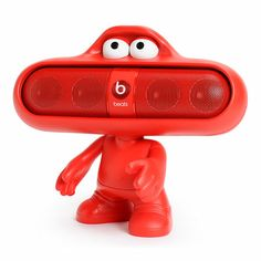 Send out the sound in a fun way with the red Beats By Dre Pill Dude speaker stand | #beatsbydre