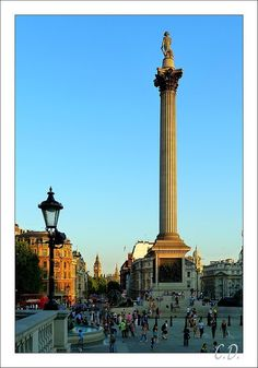 Sunset on trafalgar square - London,