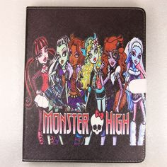 New Monster High Smart PU leather Skin Case cover for ipad 2 / ipad 3 / ipad 4