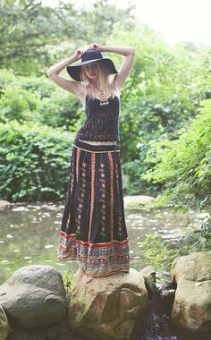 vintage gypsy skirt, just add sweater