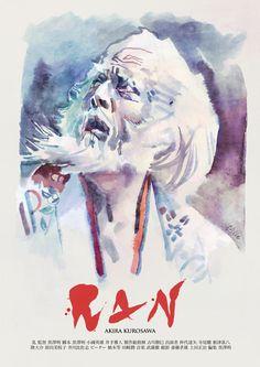 """antoniostella:  """"Poster for """"乱"""" Ran - 1985 by Akira Kurosawa  """""""