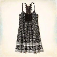 Lace Back Shift Dress