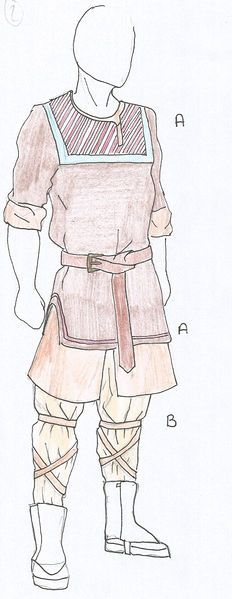 Aeirian style based off of viking/slavic dress more so in the North, the further south you go, the more Asian styles come into the designs.