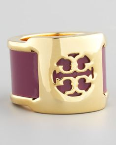 a great colorful accent. Tory Burch Patent Leather Band Ring, Fuchsia