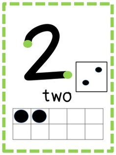 Touch Math Number Posters