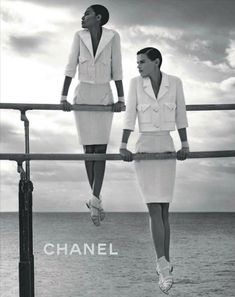 Chanel SS12 with Saskia de Brauw and Joan Smalls