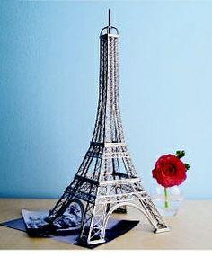 CitySouvenirs.com - Wire Eiffel Tower Model, $44.99 (http://www.citysouvenirs.com/wire-eiffel-tower-model/)