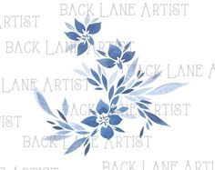 Flower Watercolor Drawing Clipart Lineart Illustration Instant Download PNG JPG Digi Line Art Image Drawing Ld81 by BackLaneArtist on Etsy