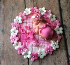 WOODLAND BABY SHOWER Deer Cake Topper Fondant cake topper camo baby pink camo hunting
