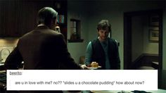 Hannibal sharing his Snack Pack to make Will love him