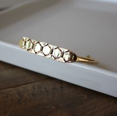 Textured Octagon Bracelet by The Curated Gift Shop [buy]