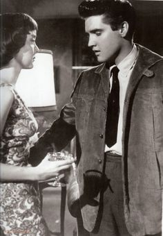 """KIng Creole"" Carolyn Jones and Elvis Presley"