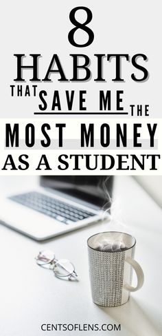 Do you struggle with saving money as a student? Find out which 8 habits save me the most money per month and allow me to spend less time worrying about my finances! College Student Budget, Scholarships For College, Student Life, College Tips, College Students, Money Tips, Money Saving Tips, Money Hacks, Federal Student Loans