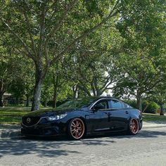 Copper Baller ! Owner : @ruined_mazda6 #stance #slammed #static #mazda #mazdamovement #mazda62014 #vip #mazdafitment by thirdgensociety