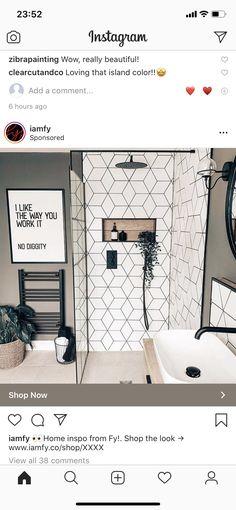 Bathroom Colors, New Homes, Bathtub, Shower, Mirror, Furniture, Home Decor, Bathrooms, House Ideas