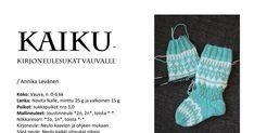 KAIKU Vauvan kirjoneulesukat.pdf Crocheting, Crochet, Chrochet, Knits, Knitting