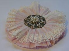 Vintage Blume Spitze Antik Ornament Perlen Shabby Dekomaterial Nostalgie Schmuck