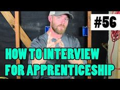 Episode 56 - How To Interview For An Apprenticeship - WHAT IF I HAVE NO TOOL EXPERIENCE? - YouTube You Can Do, Give It To Me, Journey 2, Interview Process, Google Play Music, Hard Workers, Stuff To Do, Motivation, Facebook